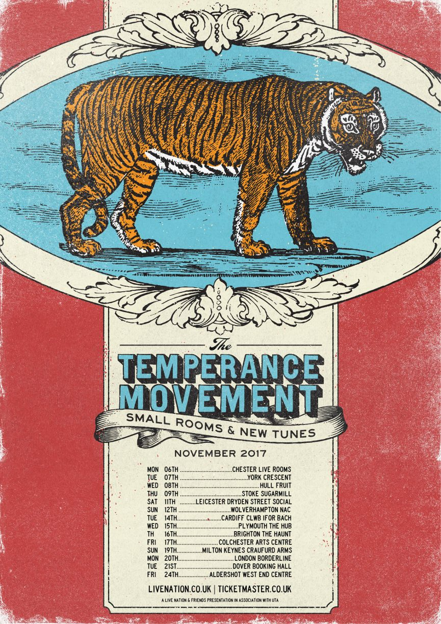 The Temperance Movement Small Rooms Tour